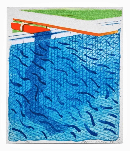 David Hockney, 'Pool Made with Paper and Blue Ink for Book, from Paper Pools', 1980, Upsilon Gallery