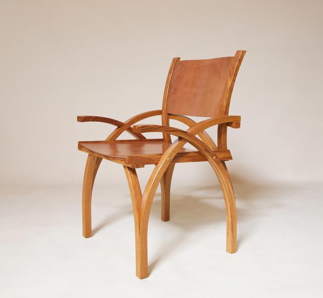 Petter Bjørn Southall, 'Treble Zero Lowback Chair', 2000, Design/Decorative Art, Furniture, chair, oak, oak-bark tanned leather, Sladers Yard