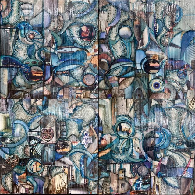 Madonna Phillips, 'Habitat', 2019, Painting, Glass, mixed medium on wood, Ai Bo Gallery