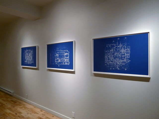 , 'UNTITLED (BLUEPRINT FOR AN UNBUILT HOUSE),' 2012, FOLD Gallery