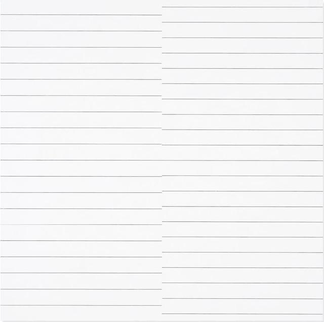 , '19 lignes parallèles et 21 lignes parallèles avec 1 interférence,' 1974, Dan Galeria