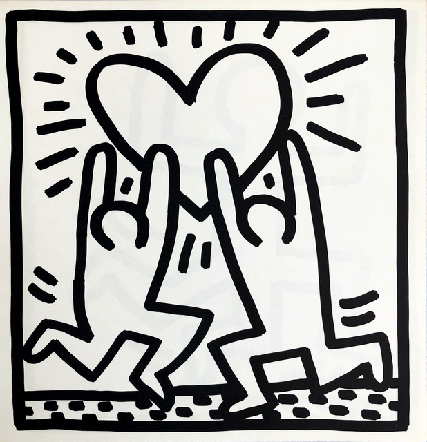 Keith Haring, 'Keith Haring (untitled) Heart lithograph 1982', 1982, Lot 180