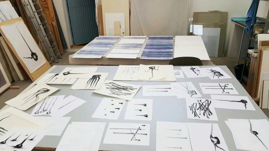 Exhibition preparatory sketches