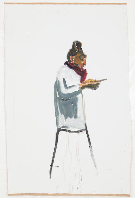 , 'Sandra de profil au téléphone,' 2018, Eric Dupont