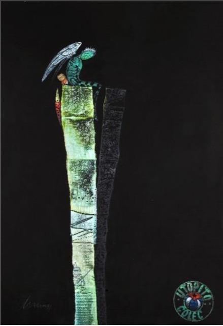"""Pedro Pablo Oliva, '""""En tiempos de remiendo Angulo, es mejor tener limpias las alas""""', 2011, TOTH GALLERY"""