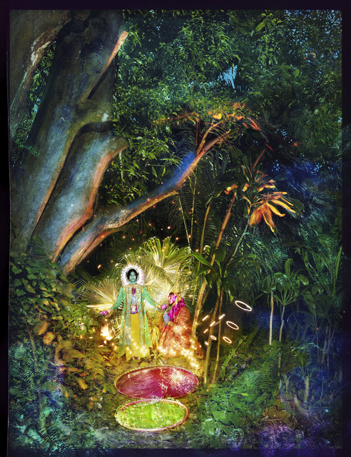 David LaChapelle, 'Jesus And Buddha Under A Tree', 2017, Photography, Hand painted negative-pigment print, Alex Daniels - Reflex Amsterdam