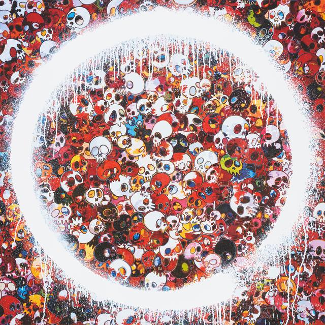 Takashi Murakami, 'Ensō: Memento Mori Red', 2015, Print, Offset print with silver, STPI