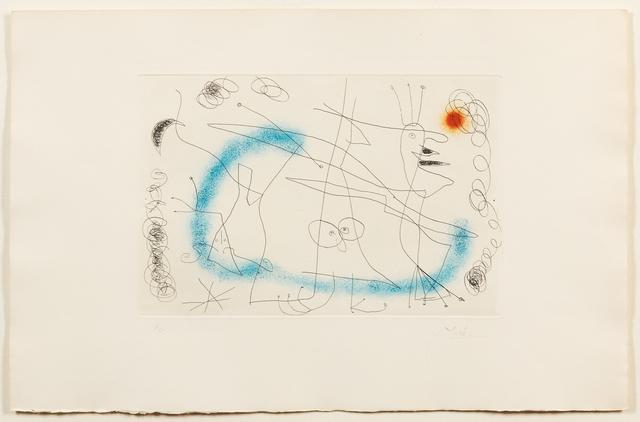 Joan Miró, 'Strip-tease in Blue', 1959, Hindman