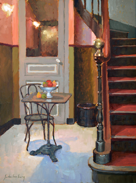 , 'A Table by the Stairs,' 2018, Addison Art Gallery