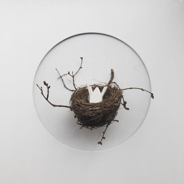 María Ángeles Atauri, 'Bubble. House in a nest', 2021, Sculpture, Natural materials on plastic, Galería Marita Segovia