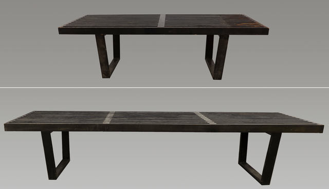 Stupendous George Nelson Herman Miller Two Slat Platform Benches Artsy Gmtry Best Dining Table And Chair Ideas Images Gmtryco