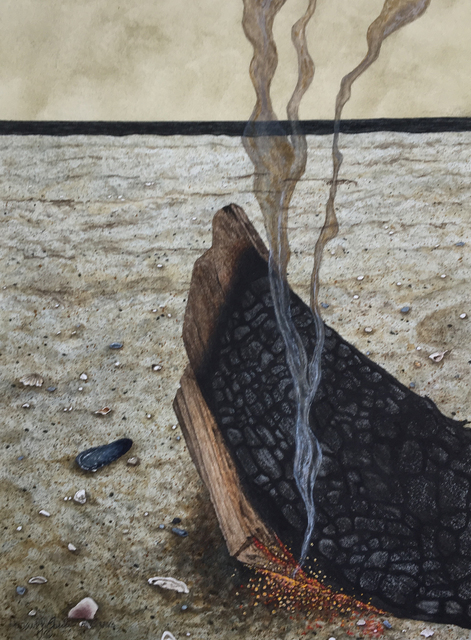 , 'Charred,' 2017, Peninsula Gallery