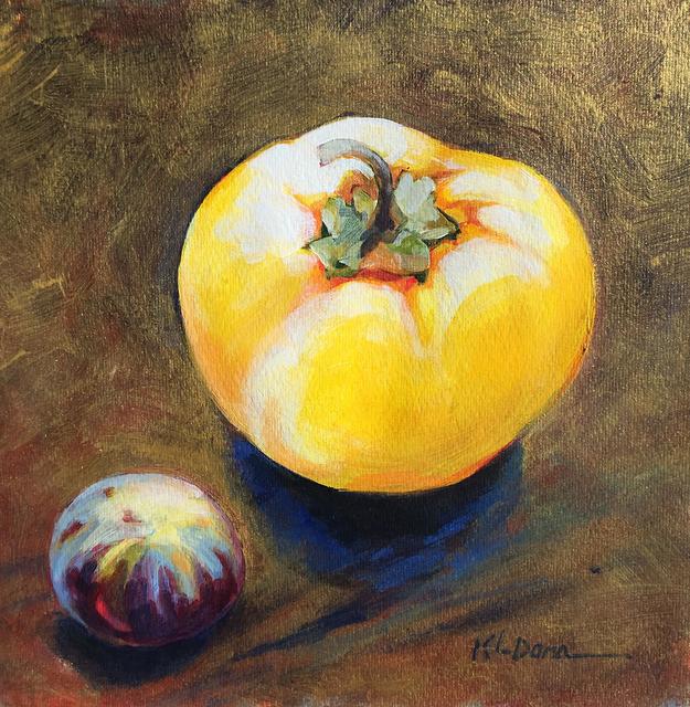 Kathy Dana, 'Pepper & Fig on Gold', Tim Collom Gallery