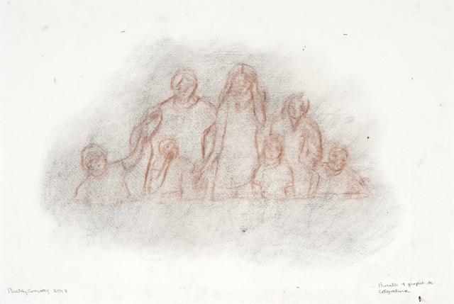 , 'Boceto 1 papel de colgadura,' 2012, Casas Riegner