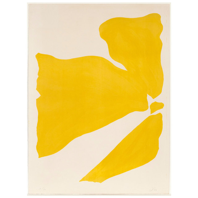 Jack Youngerman, 'Yellow Push', 1966, Print, Lithograph, Caviar20 Gallery Auction