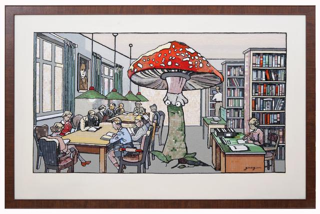, 'Bibliothek,' 2018, Gridchinhall