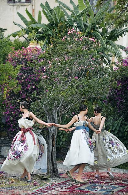, 'One Enchanted Evening (Aymeline Valade, Bette Franke, Elza Luijendijk & Zuzanna Bijoch), Taormina, Sicily,' 2012, Museo Thyssen-Bornemisza