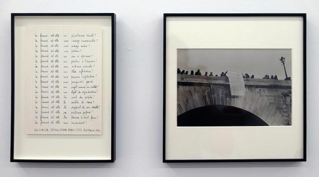 , 'Dissolution dans l'eau Pont Marie - 17 heures, 1978 Paris 11th of May - Diptych #1,' 1978, espaivisor - Galería Visor
