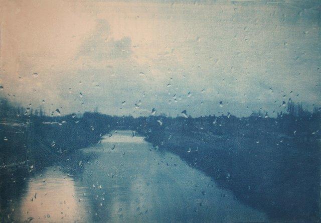 Katja Liebmann, 'Journey/ 11', 2008, Photography, Toned cyanotype on etching paper, HackelBury Fine Art