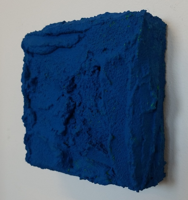 Wayson R. Jones, 'Green in Blue', 2019, Painting, Pumice Gel and Flashe on Wood Panel, Adah Rose Gallery