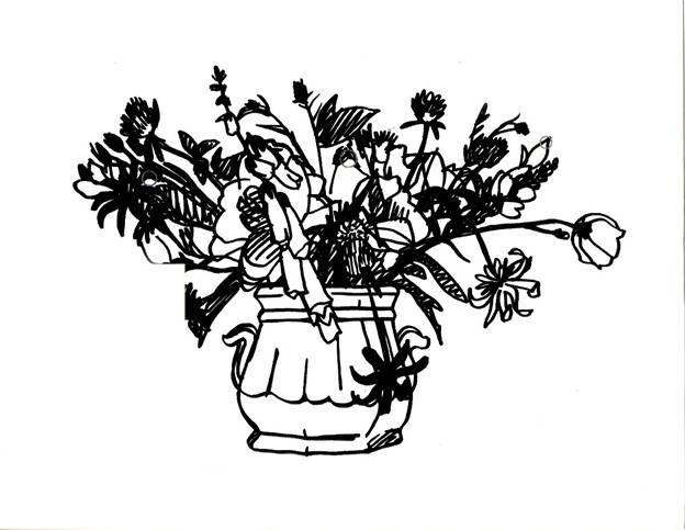, 'Wildflowers Bouquet Black (two handled vase),' 1988, Adamar Fine Arts