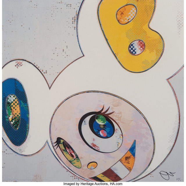 Takashi Murakami, 'And Then X6 (White: The Superflat Method Blue and Yellow Ears)', 2013, Heritage Auctions