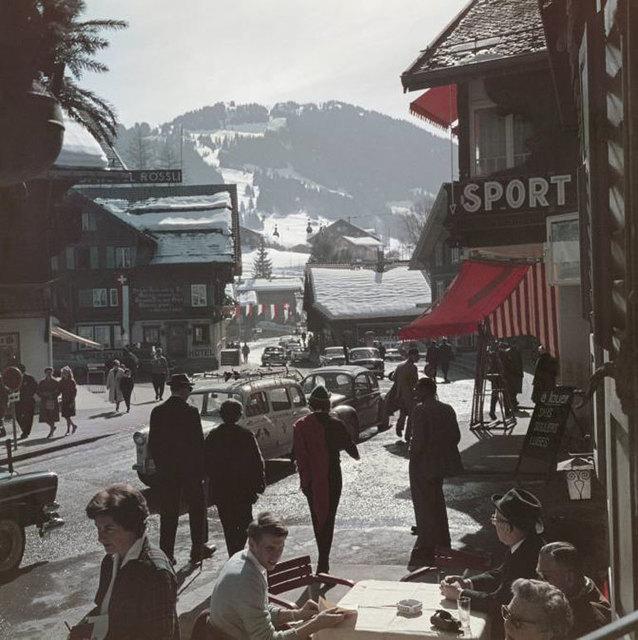 Slim Aarons, 'Gstaad Town Centre ', 1961, IFAC Arts