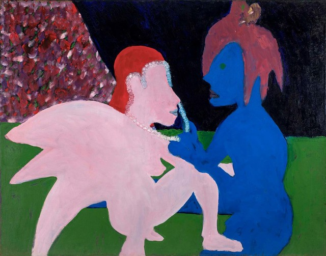 , 'Adoration (Pink and Blue Figures),' 1962, Michael Rosenfeld Gallery
