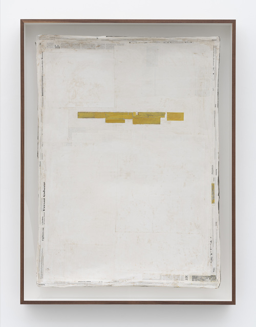 Mark Manders, 'Composition with Yellow', 2005-2019, Mixed Media, Acrylic and offsetprint on paper, wood, Zeno X Gallery