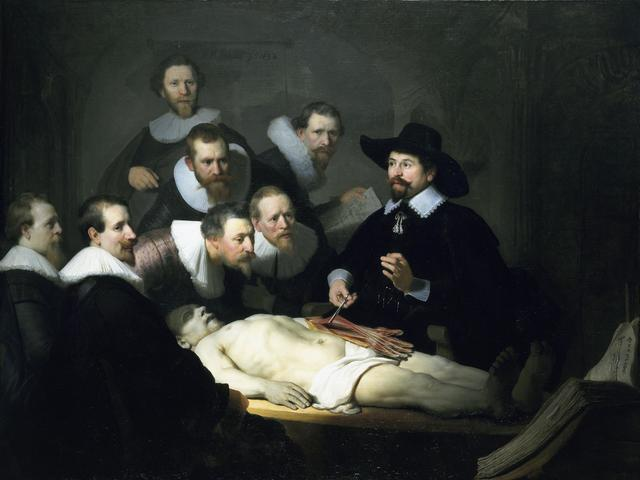 Rembrandt van Rijn, 'The Anatomy Lesson of Dr. Nicolaes Tulp', 1632, Painting, Oil on canvas, Art History 101