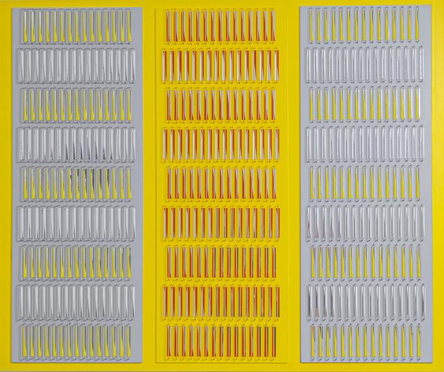 Juvenal Ravelo, 'Fragmentación de la luz y del color', 2016, Painting, Acrylic on MDF, metal and reflective elements, Villa del Arte Galleries