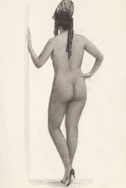 , 'Nude from the Back with Headdress,' ca. 1945, Galerie Bei Der Albertina Zetter