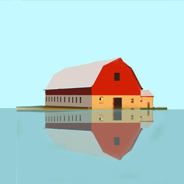 Richard Finkelstein, 'Red barn-flood', 2017, BCB Art