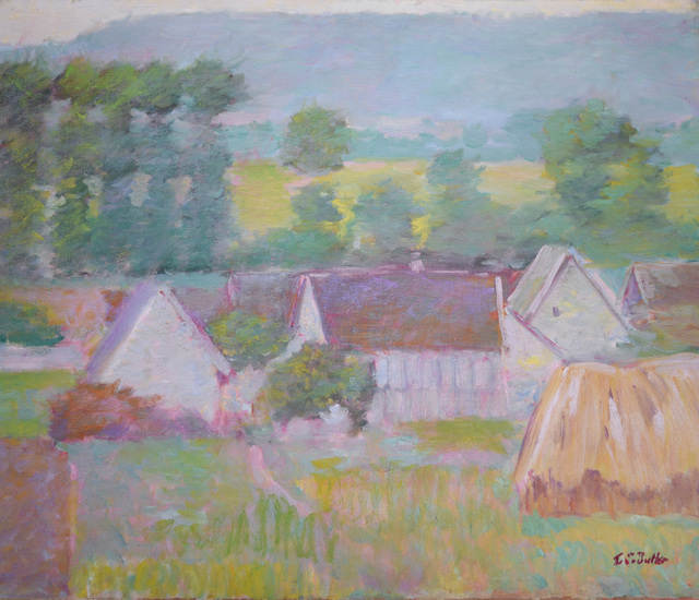 , 'View of Giverny from Hotel Baudy,' ca. 1894, ArtGiverny