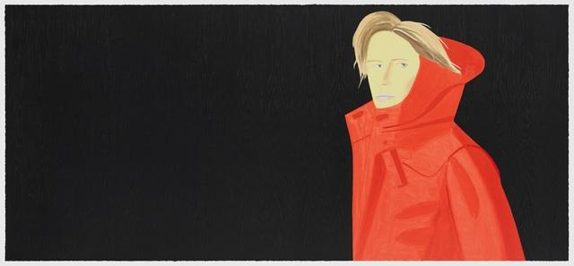 Alex Katz, 'Nicole Woodcut (Red Coat)', 2018, Frank Fluegel Gallery