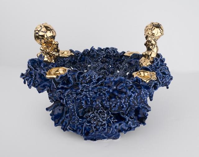 Anthony Sonnenberg, 'Fruit Bowl (Royal Blue and Gold)   ', 2019, Gavlak