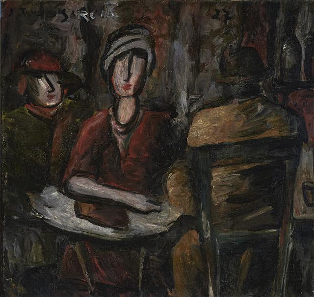 , 'Café Scene,' 1927, Cecilia de Torres Ltd.