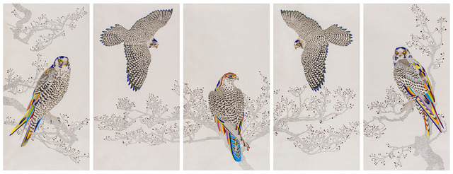 Cha Young Seok, 'An Elegant Endeavour_164', 2019, Drawing, Collage or other Work on Paper, Pencil, colour pen and watercolor on Korean mulberry paper, Leehwaik Gallery