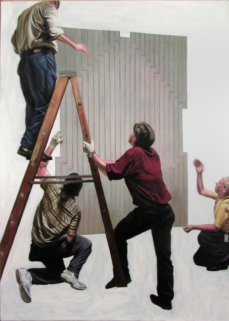 , 'Picture of Four People with Painting - National Gallery, Washington DC,' 2003, Benjaman Gallery Group