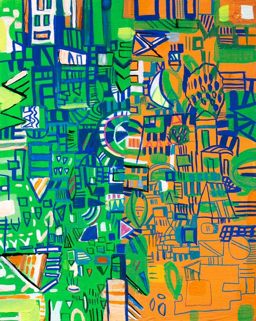 Miriam Singer, 'Green and Orange Map', 2019, Paradigm Gallery + Studio