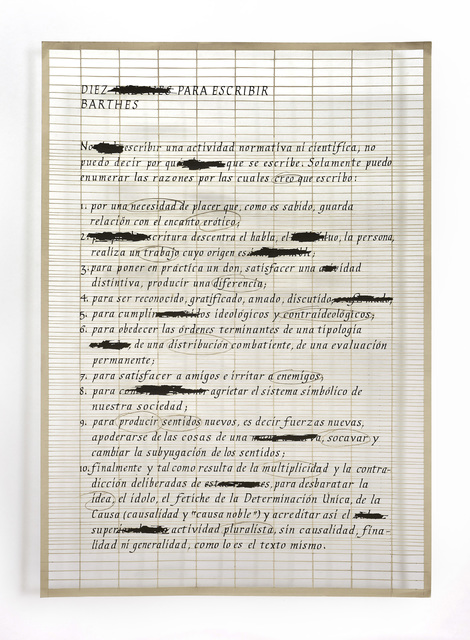, 'Definición de arte 2,' , Aldo de Sousa Gallery