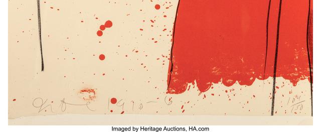 Jim Dine, 'Bathrobe', 1976, Print, Lithograph in colors on J. Green Penhurst paper, Heritage Auctions