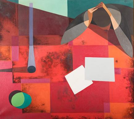 Armando Barrios, 'Etude en Rouge', 1961, Odalys