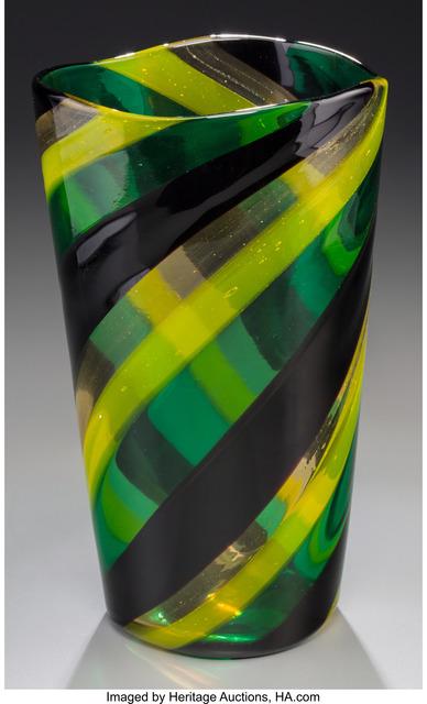 Fulvio Bianconi, 'Fasce Ritorte Vase', 1951, Design/Decorative Art, Fused polychrome glass, Heritage Auctions