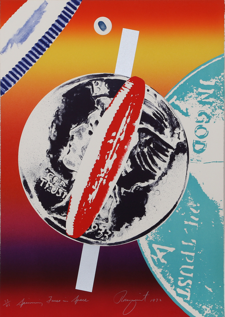 James Rosenquist, 'Spinning Faces in Space', 1972, Print, Lithograph with Screenprint, RoGallery