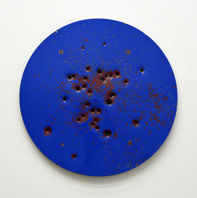, 'Caliber Abstraction Blue on Red,' 2018, Mugello Gallery