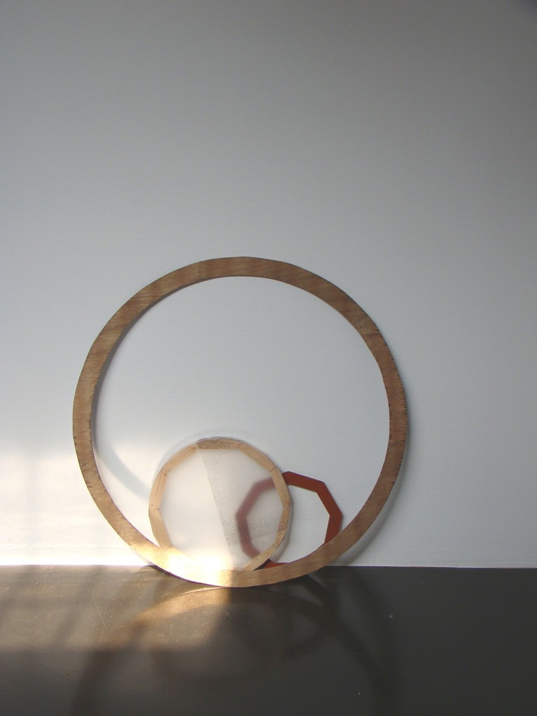 Installation in solo exhibition 'Shape and Form. Wood and various other materials.