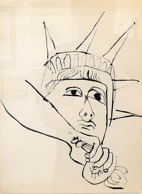 Ben Shahn, 'Liberty Down Torch ', ca. 1952, DC Moore Gallery