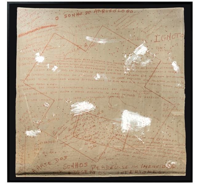 """, '""""O sonho do arqueólogo"""" ,' 1982, Lemos de Sá Galeria"""