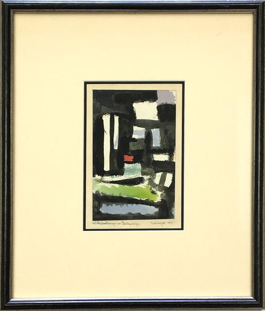 Lawrence Calcagno, 'White Buildings in Landscape', 1951, 203 Fine Art